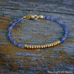 Tanzanite and Gold Delicate Bracelet