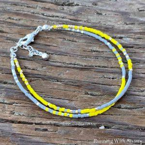 Dainty Double Strand Beaded Bracelet - Beauty 2