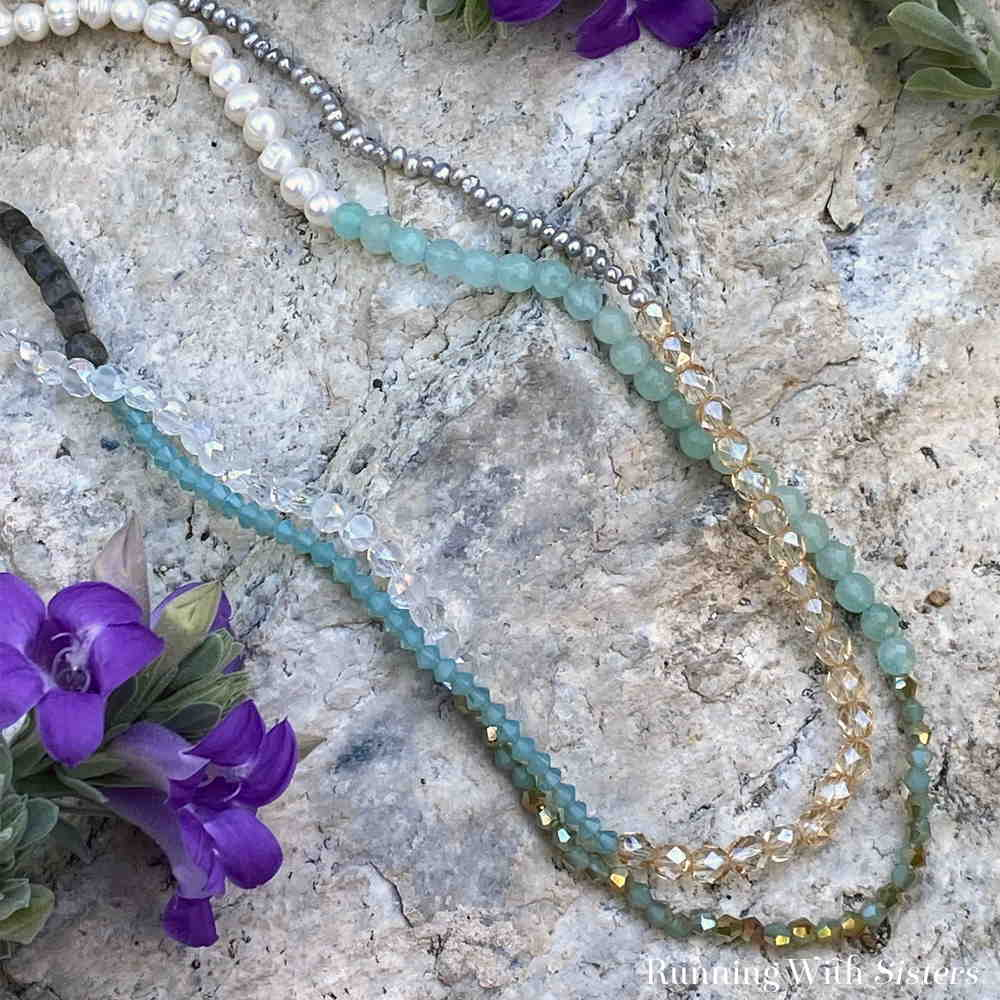Long Beaded Necklace No Clasp