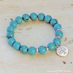 Polished Turquoise Stretch Bracelet