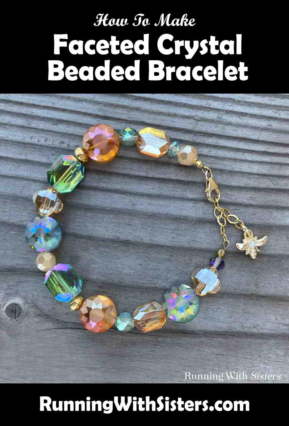 Faceted Crystal Beaded Bracelet pinterest