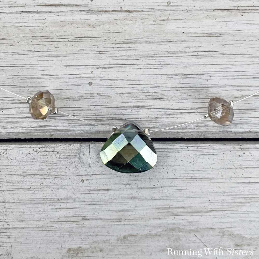 Mystic Crystal Illusion Necklace Detail Briolette
