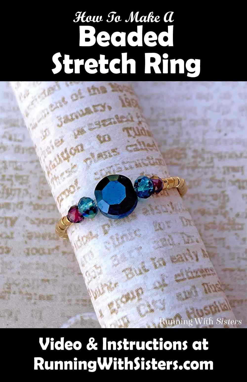 Beaded Stretch Ring Pinterest
