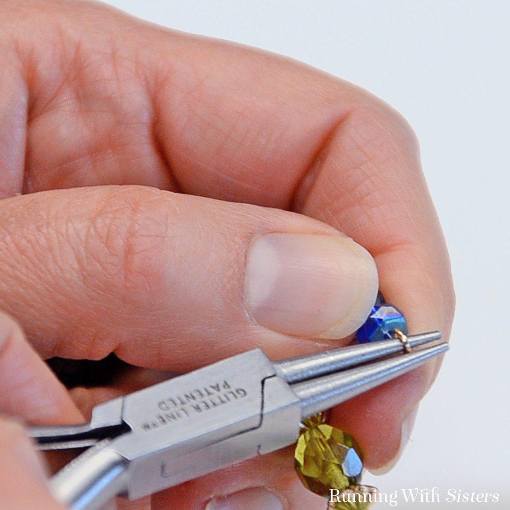 10 Rainbow Memory Wire Bracelet - Twist Loop In Other End