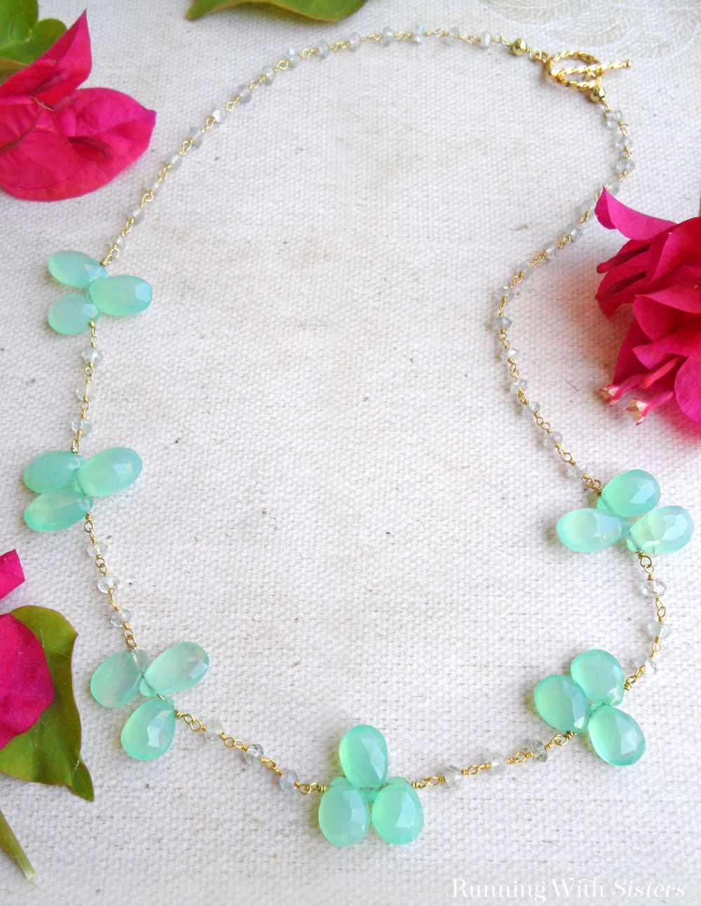 Beautiful Briolette Necklace Beauty Shot