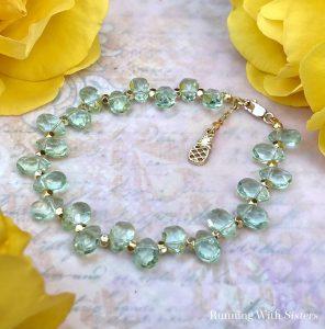 Briolette Beaded Bracelet
