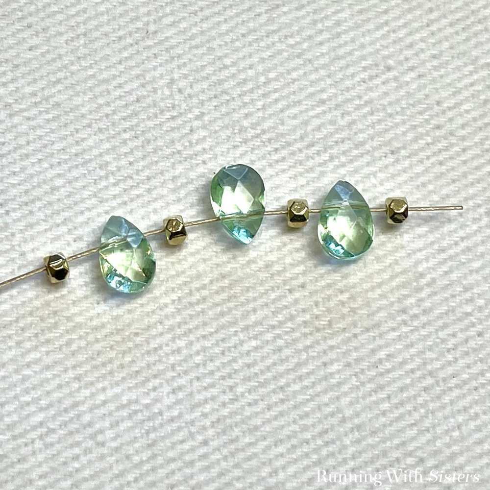 Briolette Beaded Bracelet Beads On Bead Stringing Wire 3