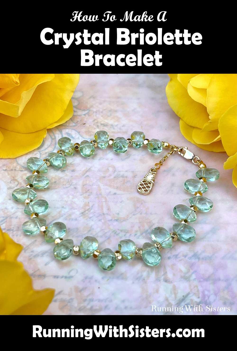 Briolette Beaded Bracelet Pinterest