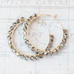 Gray Crystal Wrapped Earrings
