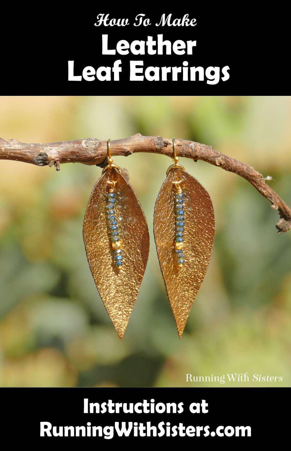 Leather Leaf Earrings Long Leaf Pinterest