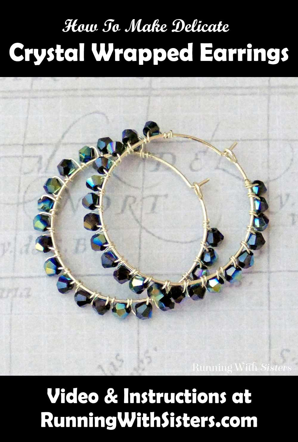 Delicate Crystal Wrapped Earrings Pinterest
