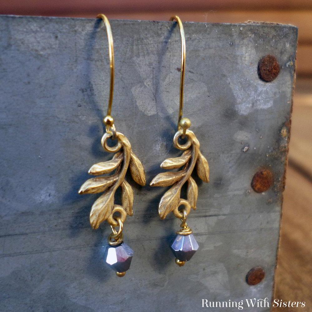 Gold-Leafy-Earrings