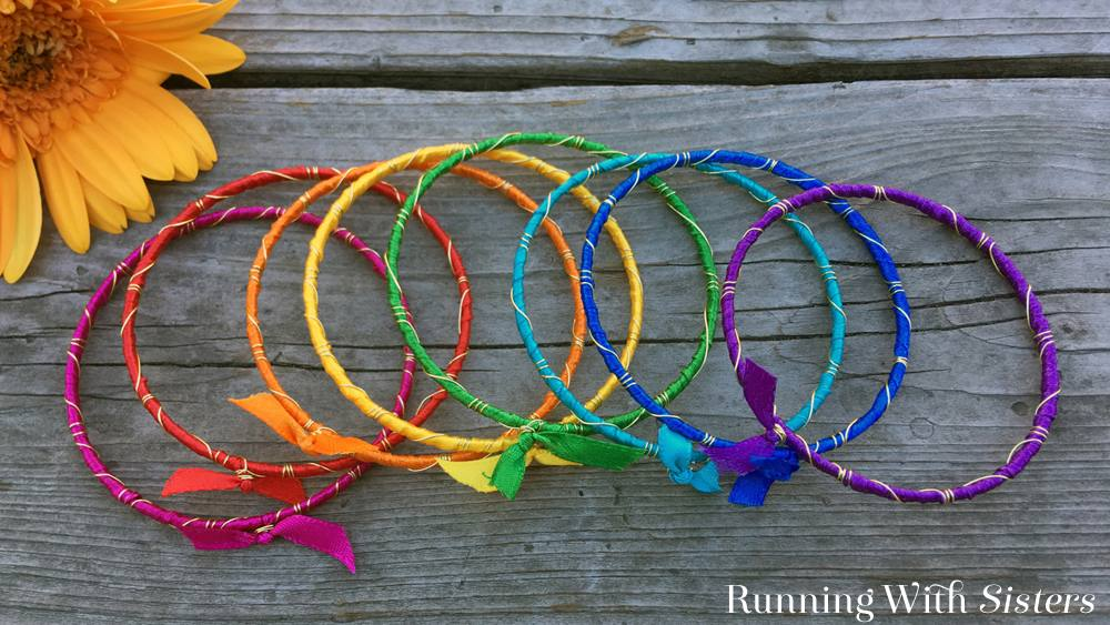 Rainbow Ribbon Bracelets